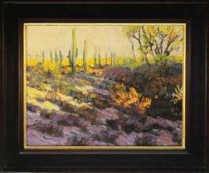 Sunset On The Border Country 14x18